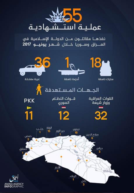 Islamic State, Statistics June 2017.
