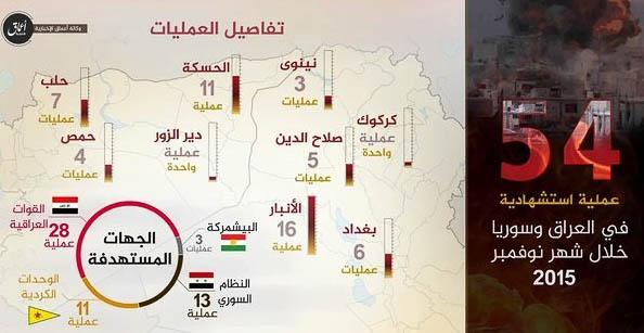 Islamic State, Statistics November 2015.